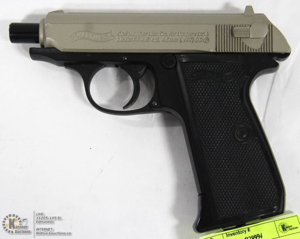 WALTHER PPK/S CO2 4 5MM BB PISTOL, AUTHENTIC