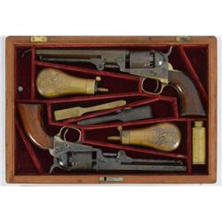 Colt Double Cased Set Pocket Revolvers