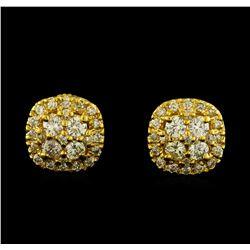 1.05 ctw Diamond Earrings - 14KT Yellow Gold