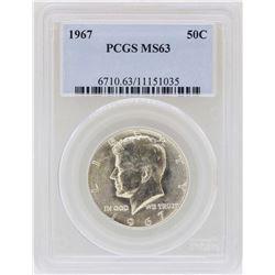 1967 Kennedy Half Dollar Silver Coin PCGS MS63