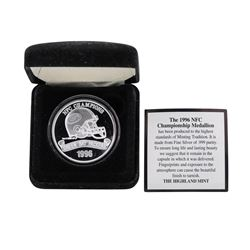 Limited Edition 1996 Super Bowl Champion Green Bay Packers 1 oz .999 Fine Silver