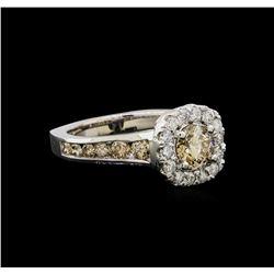 14KT White Gold 1.81 ctw Fancy Brown Diamond Ring