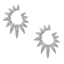 0.7 ctw Diamond Earrings - 18KT White Gold