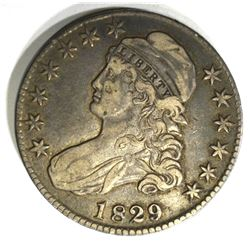 1829/7 CAPPED BUST HALF DOLLAR,