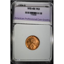 1954-S LINCOLN CENT APCG SUPERB