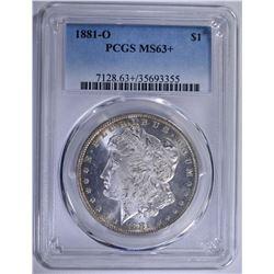 1881-O MORGAN SILVER DOLLAR PCGS MS-63+