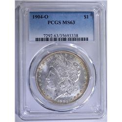1904-O MORGAN SILVER DOLLAR PCGS MS-63