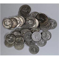 $10 FACE 90% SILVER WASHINGTON QTRS
