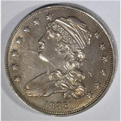 1835 CAPPED BUST QUARTER  AU+
