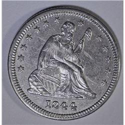 1844 SEATED QUARTER  AU/BU