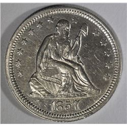 1857 SEATED LIBERTY QUARTER  BU