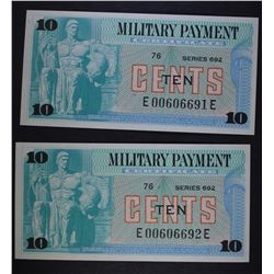 SERIES 692 TEN CENTS MILITARY PAYMENT CERTIFICATES
