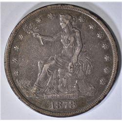 1878-S TRADE DOLLAR AU 100% ORIGINAL