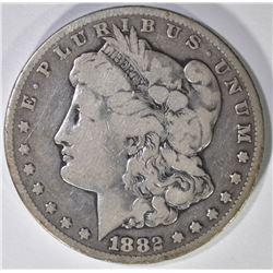 1882-CC MORGAN SILVER DOLLAR VG-F