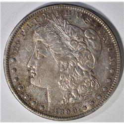 1890-CC MORGAN SILVER DOLLAR AU