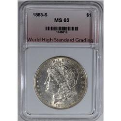 1883-S MORGAN DOLLAR, WHSG CH BU
