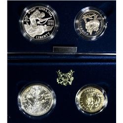 (2) 1991-1995 WWII 2-Piece Silver Proof Commems