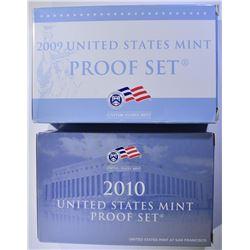 2009 & 2010 U.S. PROOF SETS/ORIG PACKAGING
