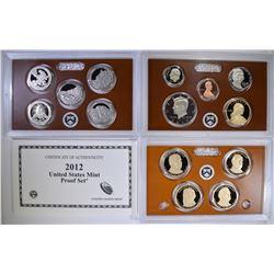 2012 U.S. PROOF SET IN ORIG BOX/COA