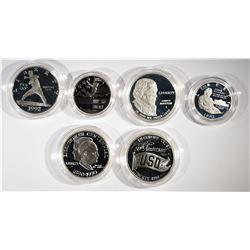 4- Silver Commemorative Silver Dollars