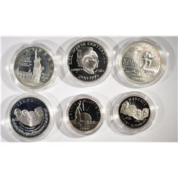 4-Silver Commemorative Silver Dollars
