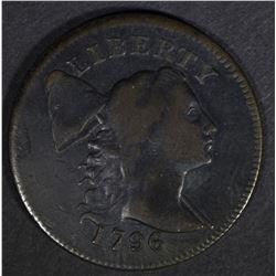 1796 LIBERTY CAP LARGE CENT  VF/XF
