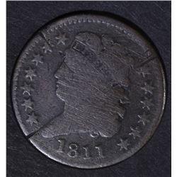 1811 CLASSIC HEAD HALF CENT  VG