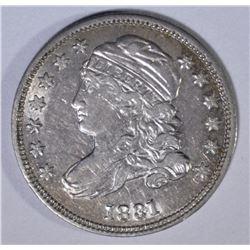 1831 CAPPED BUST DIME  AU