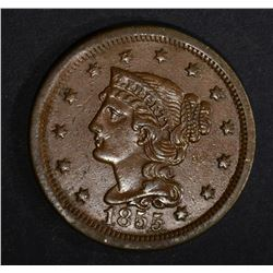 1855 LARGE CENT  XF+