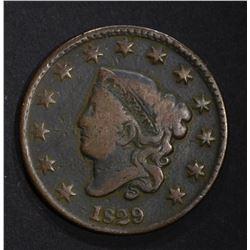 1829 LARGE CENT  VG