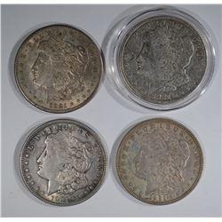 2-1921 & 2-1921-S MORGAN DOLLARS, CIRC OR BETTER