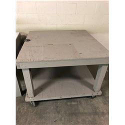 "Wood Shop table 48"" x 48"" x 35"""