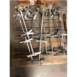 Lot of Air Powered Paint Mixers