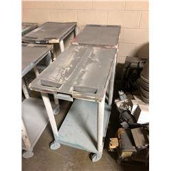 """Lot of (2) Plastic Shop Carts 33""""x27""""x18"""""""