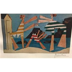 Bathers with Beach Ball - Pablo Picasso Lithograph