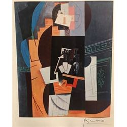 The Card Player - Pablo Picasso Lithograph