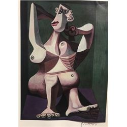 Woman Dressing Her Hair - Pablo Picasso Lithograph