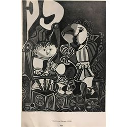 Claude and Paloma - Pablo Picasso Lithograph