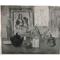 Still Life with Picture - Pablo Picasso Lithograph