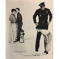 July 23, 1927- Norman Rockwell Lithograph