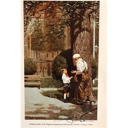 The Land of Enchantment - Norman Rockwell Lithograph