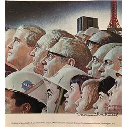 Apollo Space Team - Norman Rockwell Lithograph