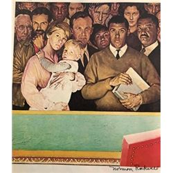 Marriage License - Norman Rockwell Lithograph