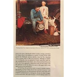 Waiting - Norman Rockwell Lithograph