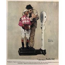 Jockey - Norman Rockwell Lithograph