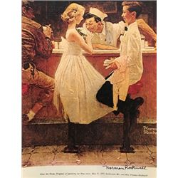 At The Diner - Norman Rockwell Lithograph