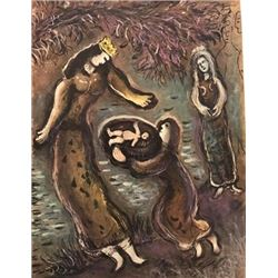 Moses and Aaron Before Pharaoh - Marc Chagall Lithograph