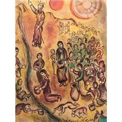 Moses and the Burning Bush - Marc Chagall Lithograph
