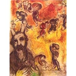 In Hell - Marc Chagall Lithograph