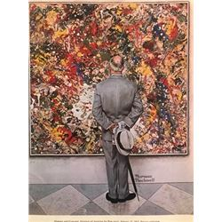 Observing - Norman Rockwell Lithograph